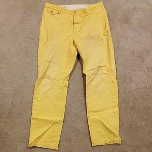 Yellow slim fit chino